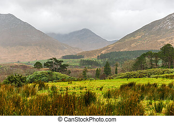 Picturesque landscape in Connemara - Picturesque irish...