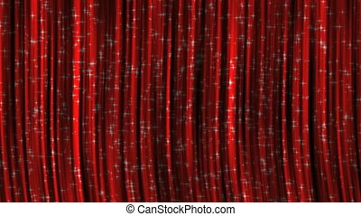 Red Curtains with Particles.