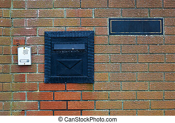Black iron letterbox - Photo of black iron letterbox and...