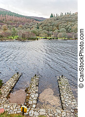 Upper lake in Glendalough - Detail photo of Glendalough...