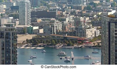 Sunny City Marina With Yachts - Pretty harbor area with many...