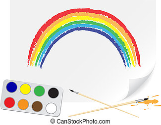 Drawing rainbow