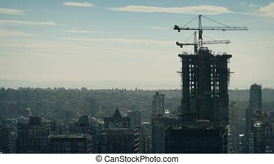 City Building Under Construction - Panoramic view looking...