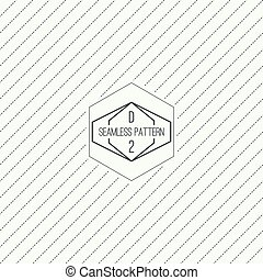 Seamless pattern with hipster vintage old banner. Repeating...