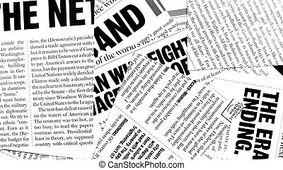 News paper text with old paper