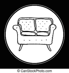Simple doodle of a sofa