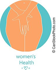 womens reproductive Health - vector illustration for womens...