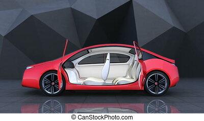 Autonomous electric car - Demonstration of autonomous...