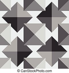 pyramid seamless pattern - black and white color geometrical...