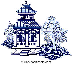 Willow pattern house