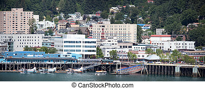 Juneau Downtown Panorama - The panoramic view of Juneau...