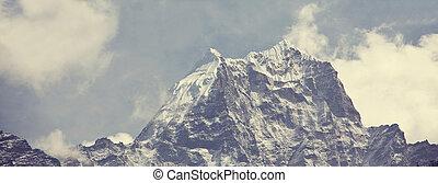 Himalaya - Mountains in Sagarmatha region, Himalaya