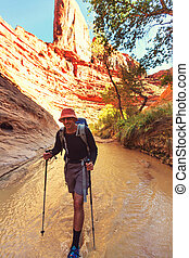 Hike in Coyote gulch, Grand Staircase-Escalante National...