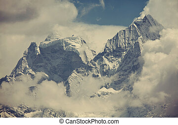 Himalaya - Mountains in Sagarmatha region, Himalaya