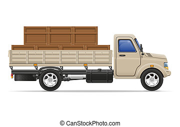 cargo truck delivery and transportation goods concept illustration