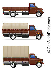 cargo truck for transportation of goods illustration