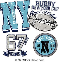 college graphics for t-shirt new york rugby