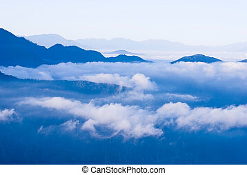 Mountain in the clouds