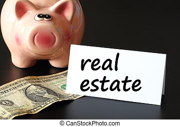 real estate concept - save money for real estate in your...