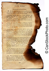 Burned book - Close up of burned book for background