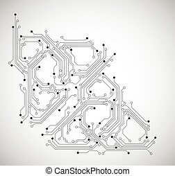 abstract circuit board background - vector