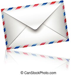 mail icon vector - isolated on white background