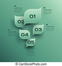 vector environmental design trend - infographics with green leaf