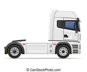 truck semi trailer illustration isolated on white background