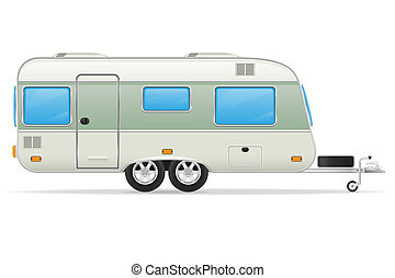 trailer caravan illustration - trailer caravan mobil home...