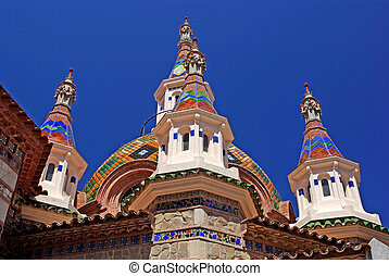 Parish Church of Sant Roma Lloret de Mar, Costa Brava, Spain...