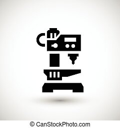 Drilling machine icon isolated on grey Vector illustration