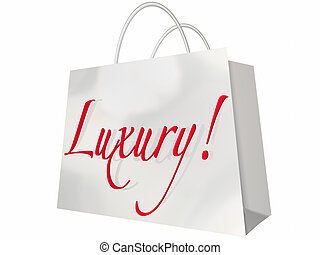 Luxury Shopping Bag Expensive Exclusive Premium Items