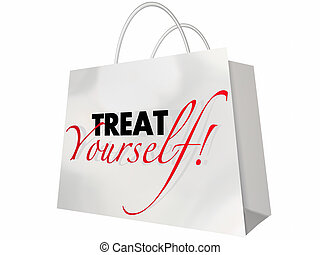 Treat Yourself Shopping Bag Lush Luxury Sale