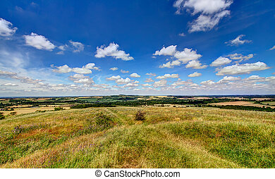 Old Winchester Hill - View from the top of Old Winchester...