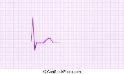 Purple HeartBeat Cardiogram.