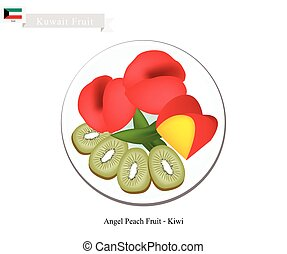 Peaches and Kiwi Fruits, Two Popular Fruits in Kuwait -...