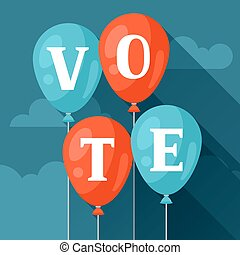 Balloons with appeal vote Political elections illustration...