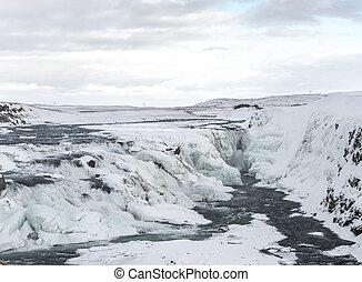 Gullfoss is a waterfall located on the White River (Hvítá)...