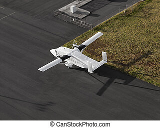 Single Engine Airplane on a airport
