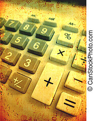 Calculator - Close up of Calculator keypad