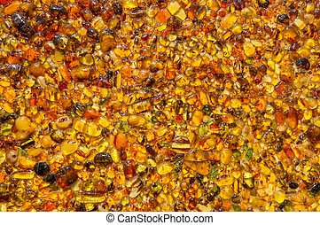 Raw amber as Background - Natural beauty of amber