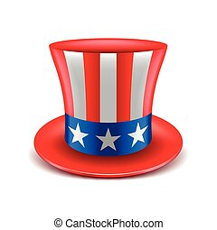 American hat isolated on white vector