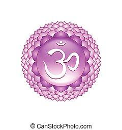 Sahasrara chakra symbol isolated on white vector - Sahasrara...