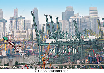 Cargo dock - Commercial dock in Singapore