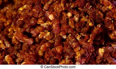 Minced meat - Detail of freshly minced meat in a pot