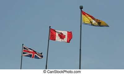 Flags Union Jack Canadian New Brunswick