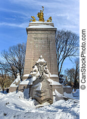 USS Maine Monument - Central Park, NYC - The USS Maine...