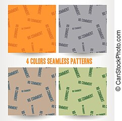 no comment seamless pattern - Sign no comment seamless...