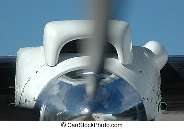 vroom - Turbo prop engine winds up on a twin engined Dornier...