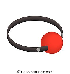 Red ball gag with a belticon, isometric 3d style - Red ball...
